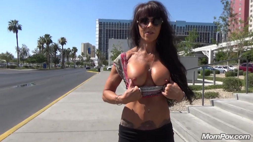 [Mompov.com] 56 y.o. granny Laila is back for anal bonus - Sexy Brunette Cougar Bonus (E123) - 2018, Grandmother, Anal, Interview, Blowjob, Pussy Cum, Posing, POV, MILF, HD, 720p